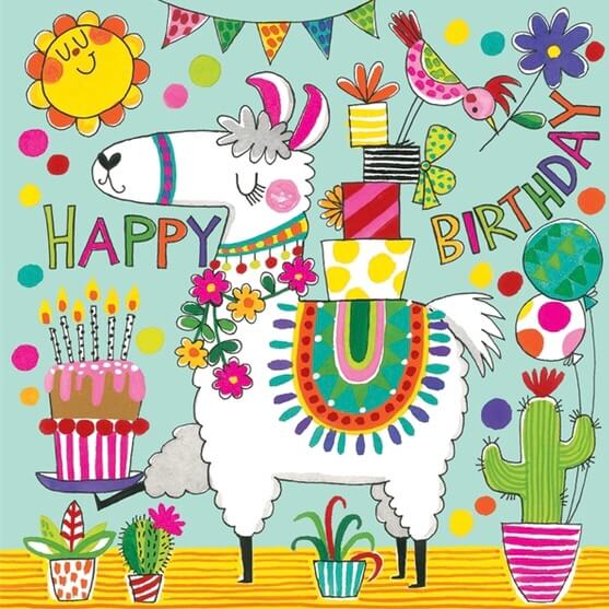 Pusselkort (30 bitar) & Gratulationskort - Lama
