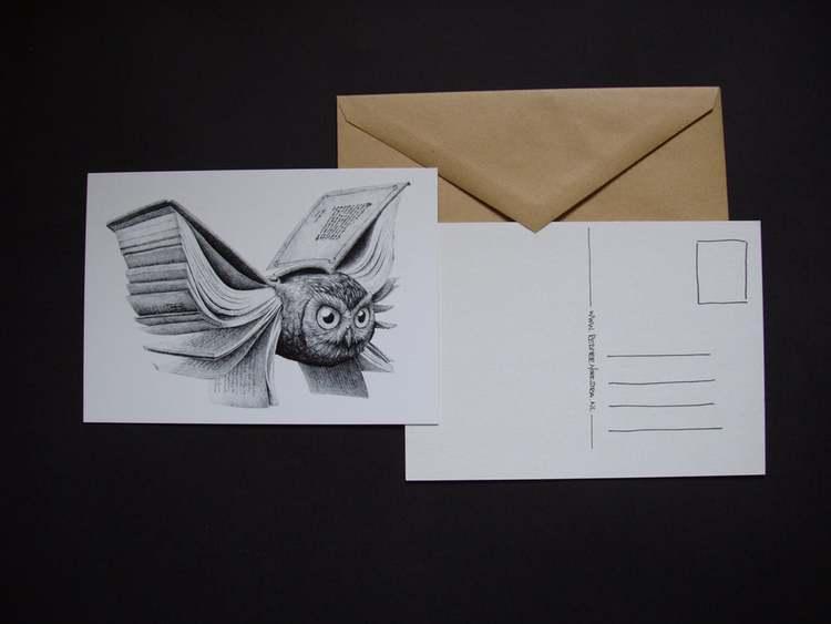 Enkelt konstkort - BokUgglan (Fraktfritt)