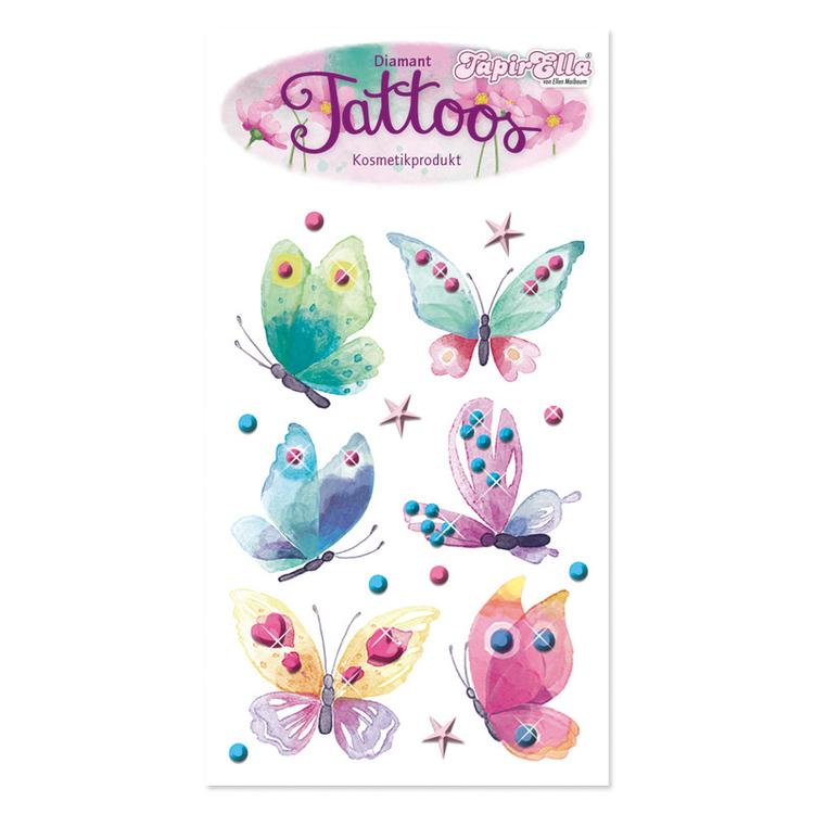 Tatueringar - Diamantfjärilar (Fraktfritt)