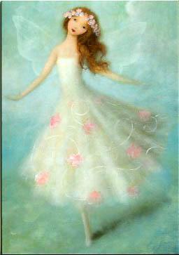 Lite mindre kort med kuvert - Dansande blomsterälva (Fraktfritt)