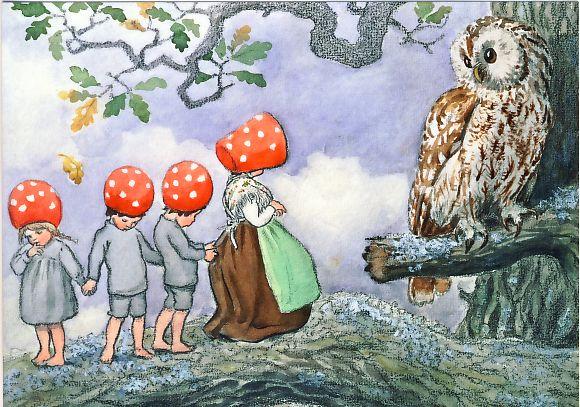 Enkelt kort - Tomtebobarnen - Kloka råd av ugglan