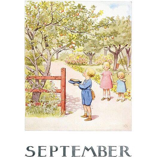 Enkelt Kort - Välj vilken månad du vill ha (Fraktfritt) September