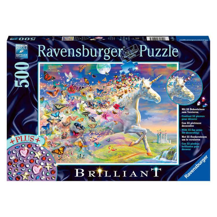Pussel -Enhörningen och fjärilarna (500 bitar) från Ravensburger