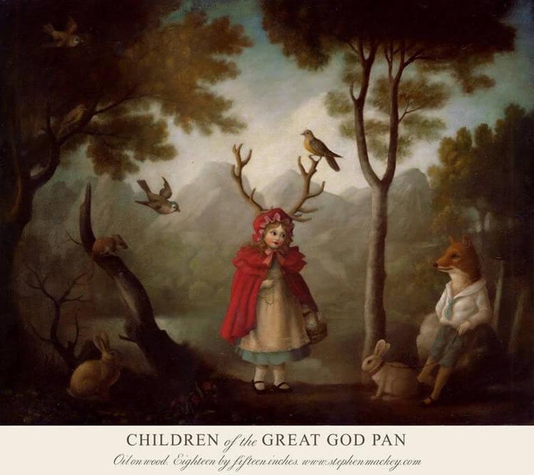 Kort med kuvert - Alla är de barn av Pan (Fraktfritt)