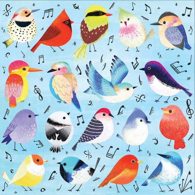 Pussel - Härliga fåglar (500 bitar) från Mudpuppy