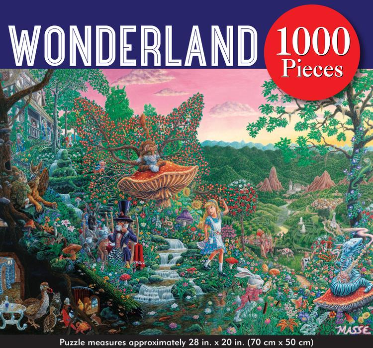 Pussel (1000 bitar) med Alice i underlandet