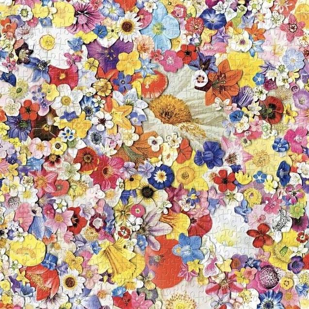 Pussel - Ett hav av blommor (500 bitar)