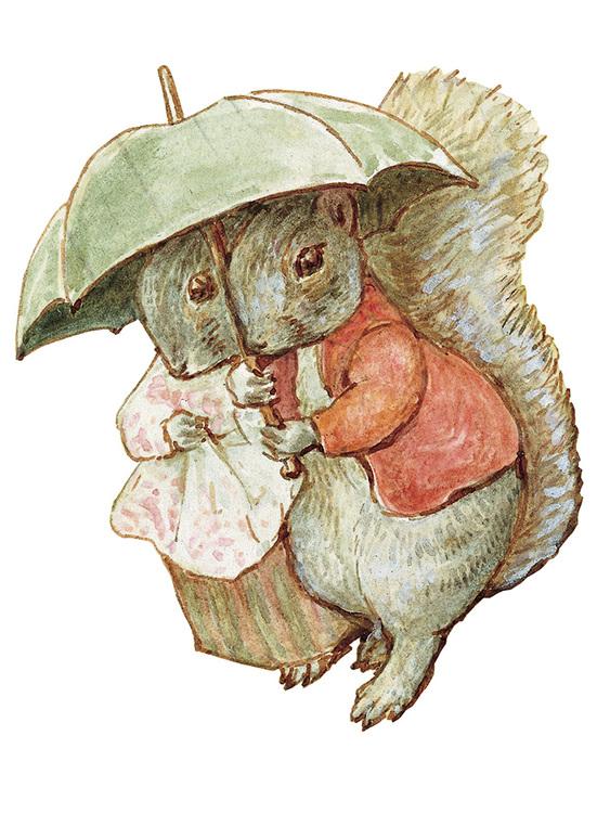 Litet kort med kuvert - I regnet tillsammans (Fraktfritt)