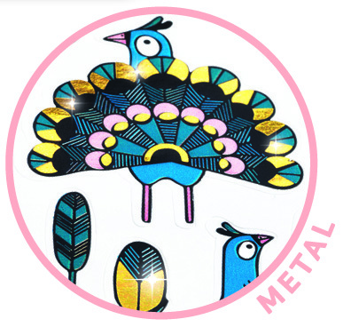 Mini stickers - Påfåglar från Djeco