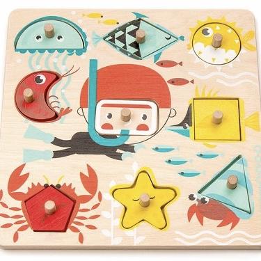 Pussel-  Lär dig om hav och form (9 bitar)