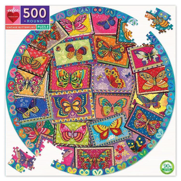 Pussel - Fjärilar vintage (1000 bitar) från EeBoo
