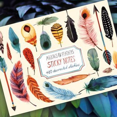 Sticky notes - Fjädrar
