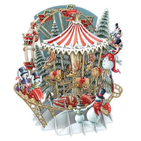 Magiskt julkort - Vinterkarusell (Fraktfritt)