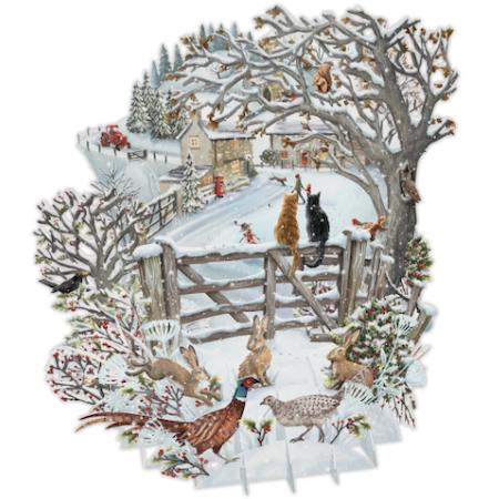 Magiskt julkort - Vinterlandskap (Fraktfritt)