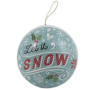 Julkula i papp som går att öppna - Let it snow