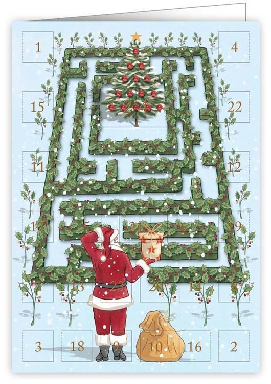 Liten Adventskalender som julkort - Labyrinten