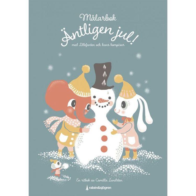 Målarbok -Äntligen jul! med Lillefanten och hans kompisar
