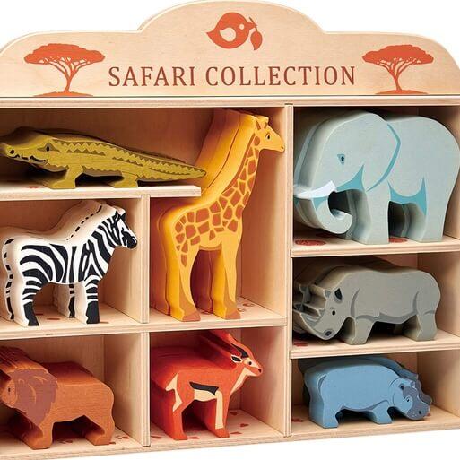 Savannens vackra djur i trä från Tender Leaf Toys