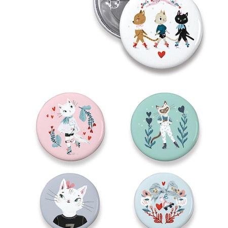 Badges - Katter från Djeco