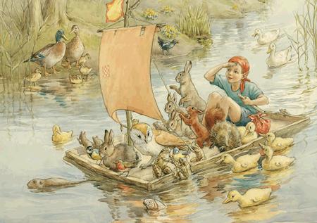 Enkelt Kort - Äventyr på floden (Fraktfritt)