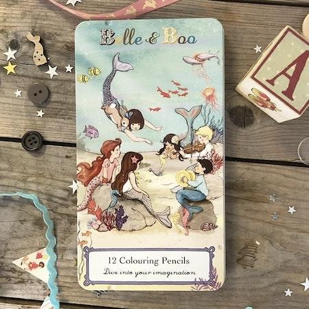 Pennor i plåtask - Belle & Boo Sjöjungfrur