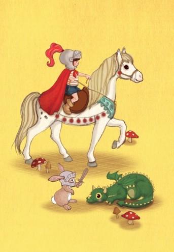 Enkelt kort - Riddaren och draken (Fraktfritt)