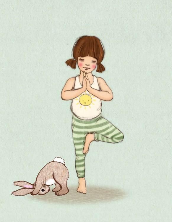 Enkelt kort - Yoga (Fraktfritt)