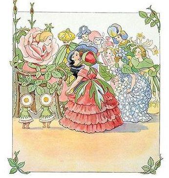 Enkelt Kort - Blomsterfesten med drottning Ros (Fraktfritt)