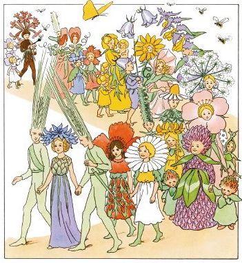 Enkelt Kort - Blomsterfesten i täppan (Fraktfritt)