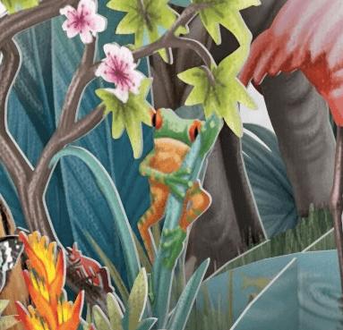 Magiska gratulationskort - Djungelfest (Fraktfritt)