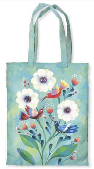 Tygkasse - Fåglar & Blommor