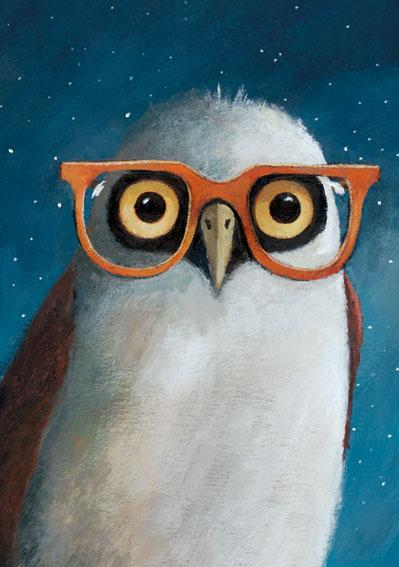 Enkelt Kort - Glasögonuggla (Fraktfritt)