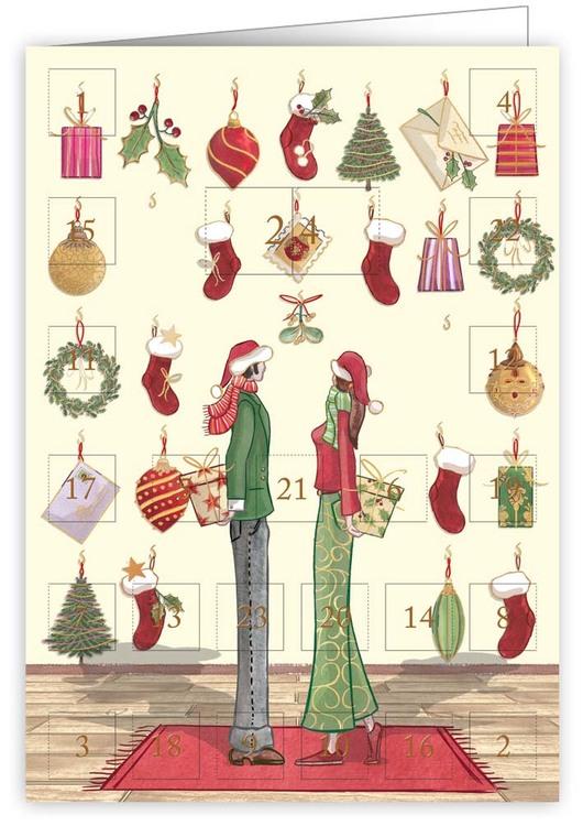 Liten Adventskalender som julkort - Jul tillsammans