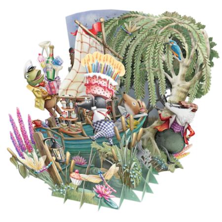 Magiska gratulationskort - Kalas på flodbåten (Fraktfritt)