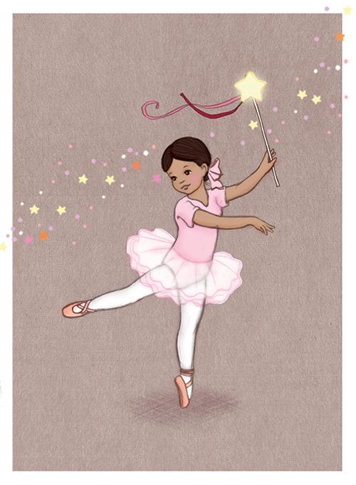 Enkelt Kort - Förtrollad ballerina (Fraktfritt)