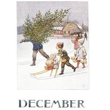 Enkelt Kort av Elsa Beskow - Välj vilken månad du vill ha (Fraktfritt)