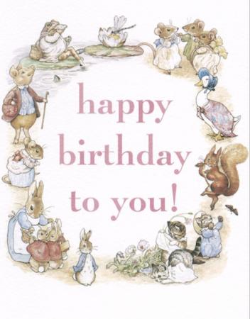Kort med kuvert  - Happy Birthday (Fraktfritt)