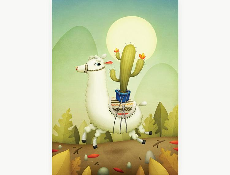 Enkelt konstkort - Laman (Fraktfritt)