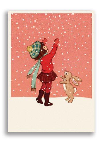 Enkelt Kort - Lek i snön (Fraktfritt)