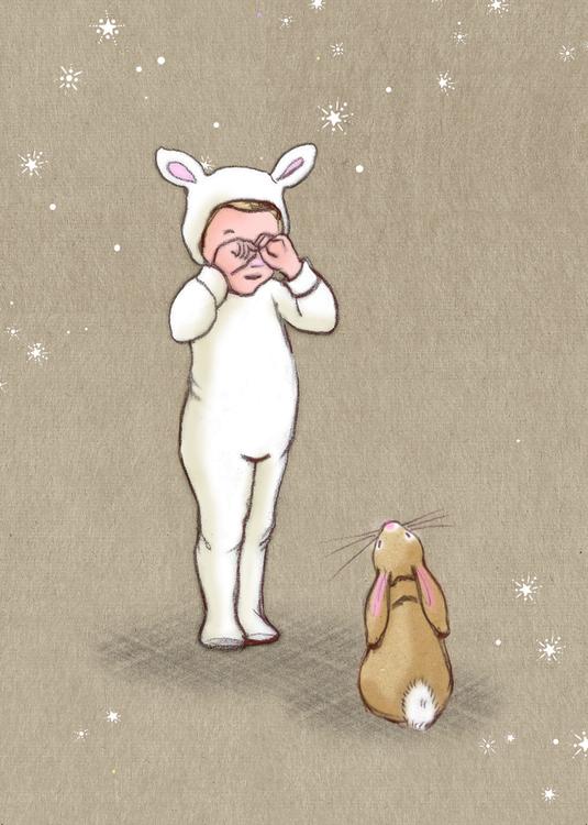 Enkelt Kort - Lilla lamm (Fraktfritt)