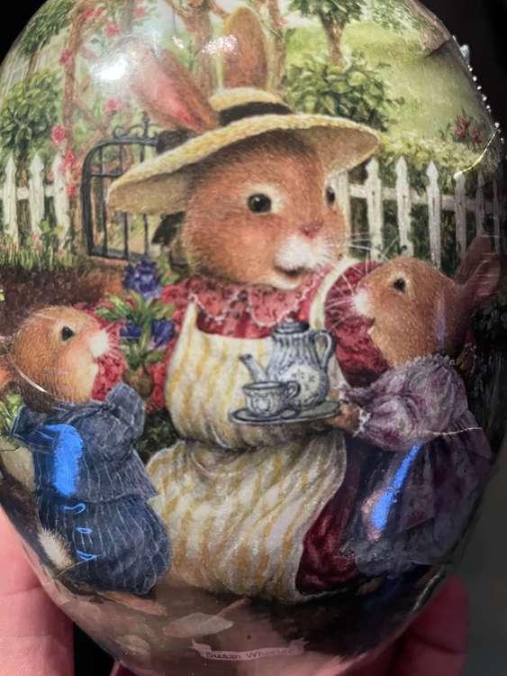 Påskägg - Söta kaniner - 12 cm (flera olika motiv att välja bland)