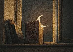 Enkelt Kort - Månen (Fraktfritt)
