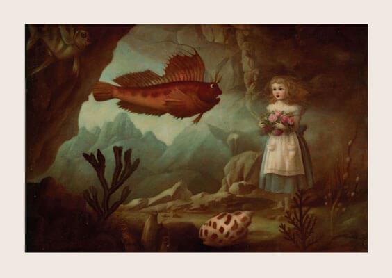 Kort med kuvert - Rosor till fiskarna (Fraktfritt)