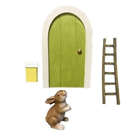 Fin dörr och tillbehör till Påskharen (två varianter)