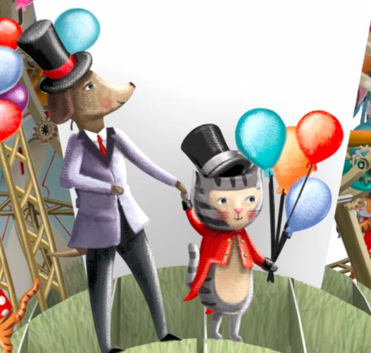 Magiska gratulationskort - FödelsedagsTivoli (Fraktfritt)