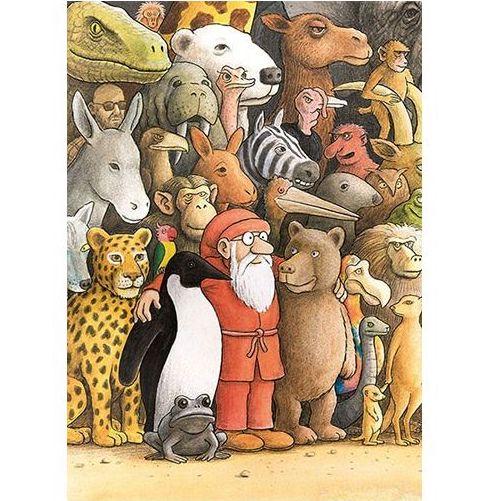 Enkelt Kort - Tomten och de vilda djuren (Fraktfritt)