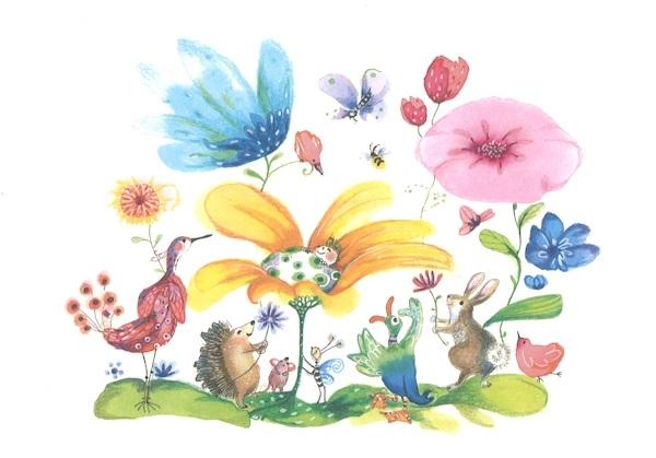 Kort med kuvert - Välkommen lilla, fina du (Fraktfritt)