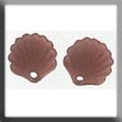 Glass Treasures 12244 Scallop Shell Matte Dark Rosaline