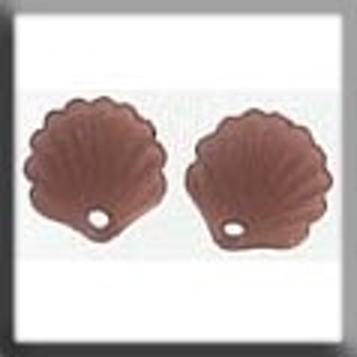 Glass Treasures 12244 Scallop Shell Matte Dark Rosaline