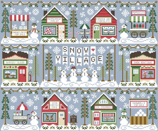 Snow Village Banner - Country Cottage Needleworks